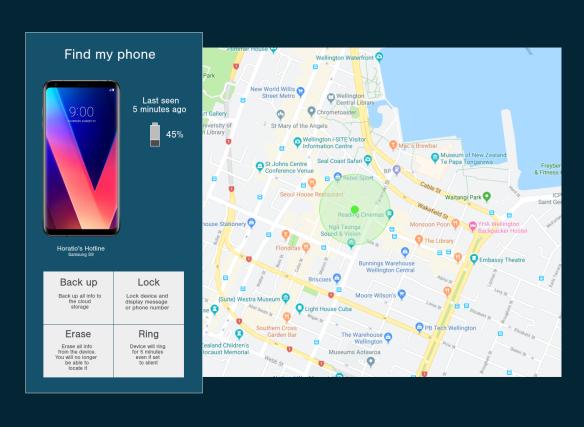 Location tracker screenshot